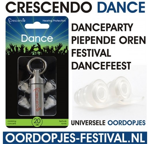 Crescendo Dance Oordopjes Danceparty Dancefeest Oordoppen